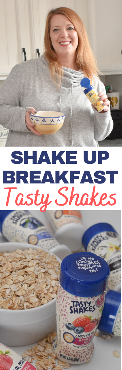 Shake Up Breakfast With Tasty Shakes. AD #TastyShakes Tasty Shakes oatmeal mix-ins allow you to customize your breakfast with a different flavor each day. #breakfast #breakfastideas #oatmeal #oatmealmixin #flavors #flavormixins #flavoredoatmeal