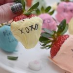 Valentine's Day Dessert - Conversation Hearts Chocolate Covered Strawberries