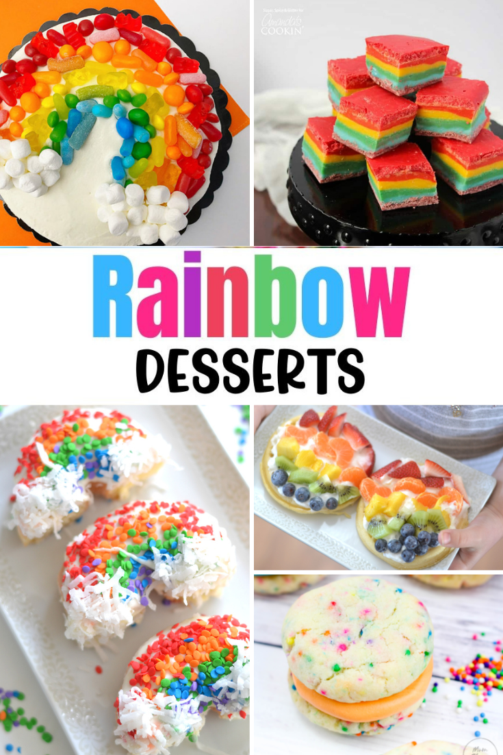 Rainbow Desserts. Rainbow dessert recipes. Rainbow Dessert recipes. Rainbow Desserts you need to try. Rainbow treats for St. Patrick's Day.