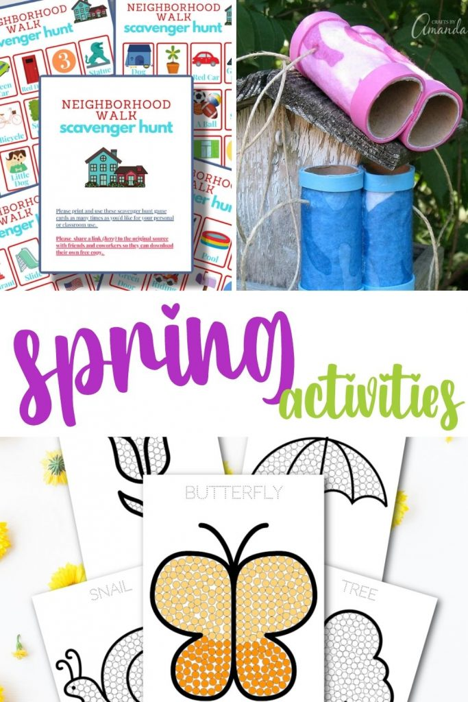 spring activities. DIY crafts for kids. Spring activities for kids. activities for kids. crafts for spring break. Free spring activities printables. Keeping busy during spring break. Screen-free activities for kids.