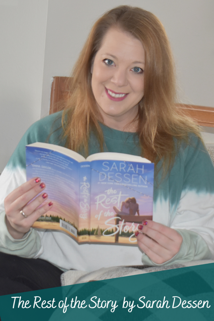 The Rest of The Story by Sarah Dessen. Books by Sarah Dessen. The rest of the story. YA novels for girls. Sarah Dessen. Books to read in 2021. Beach reads. Chic lit book review. Book reviews. Reading goals.