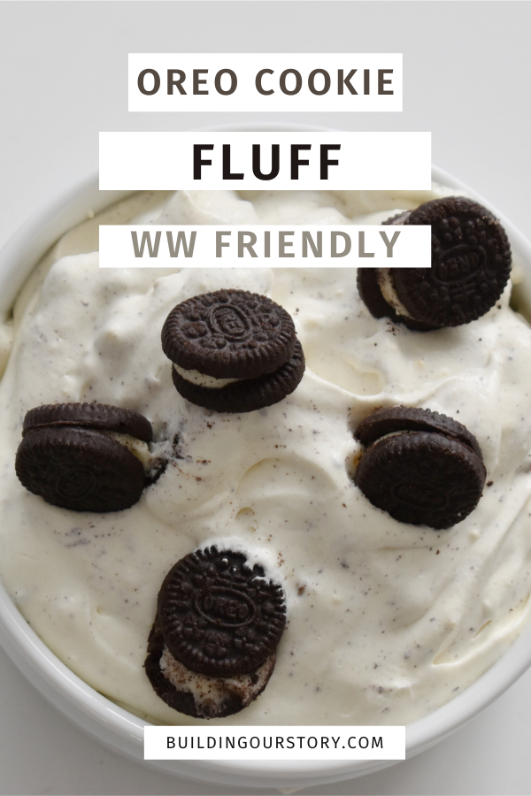 Oreo Cookie Fluff - WW Friendly. Weight Watchers Oreo Fluff. Oreo fluff. Desserts with Cool Whip. Weight watchers friendly desserts. Oreo desserts. Easy desserts on Weight watchers. Oreo Cookie Fluff Weight Watcher Friendly. #ww #weightwatchers