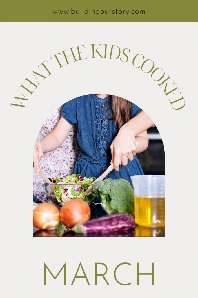 What the kids cooked. How to get kids in the kitchen. tips for teaching kids to cook. Recipes for kids to make.