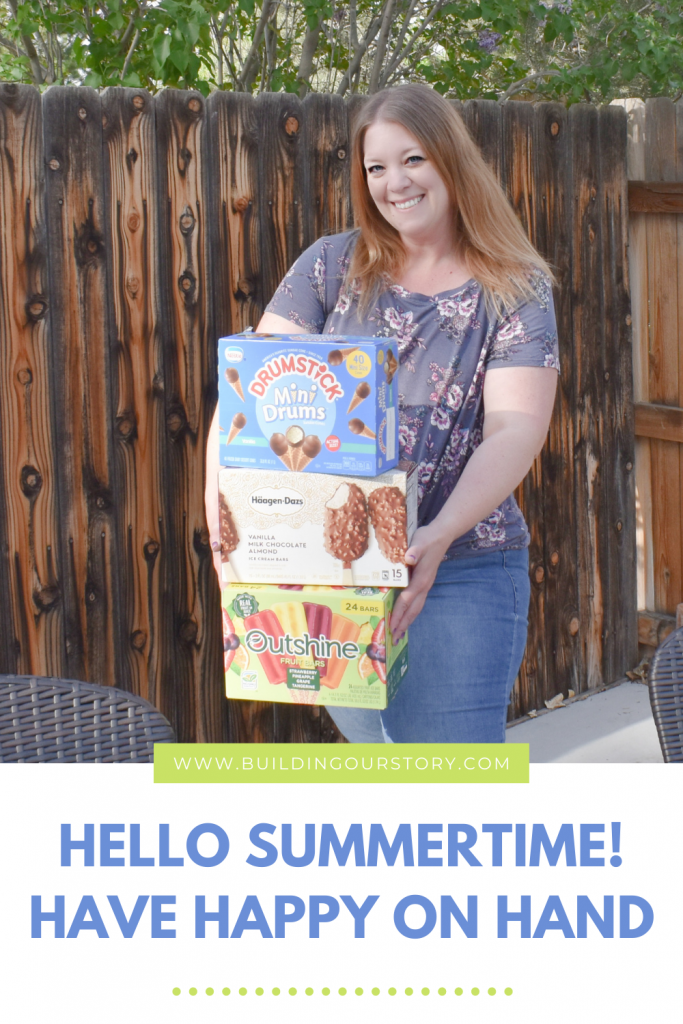 Hello Summertime! Have Happy On Hand! Visit Sam's Club for all of your sweet treat needs this summer! Stock up on Dreyer's Grand Ice Cream treats today. #ad #HaveHappyOnHand #READY.SET.SUMMER! @haagendazs_us @outshinesnacks @drumstick @samsclub
